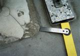 Offene Schweißnaht einer PVC-Abdichtung
